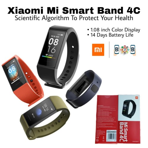 Foto Produk XIAOMI MI BAND 4C - Redmi Band 4 Xiaomi Smart Band Miband 4 C - Hitam dari b2b mobile