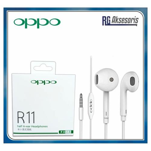 Foto Produk handsfree / headset / earphone OPPO R11 ORIGINAL 99% good Quality dari RG AKSESORIS HP