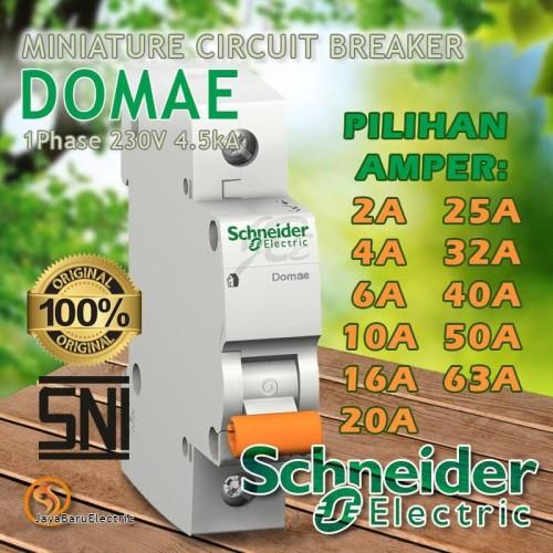 Foto Produk MCB Schneider Domae 1P 2A 4A 6A 10A 16A 20A 25A 32A 40A 50A 63A SNI - 20A dari Toko OL Sinar Jaya Baru
