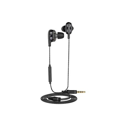 Foto Produk Hippo Miooz Dual Dynamic Drive Earphone DB28 - BLACK dari Miooz Official Store