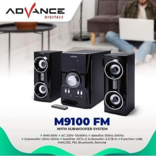 Foto Produk Speaker Advance M9100 FM V.2 Multimedia Subwoofer Bluetooth USB FM dari Mars Pedia