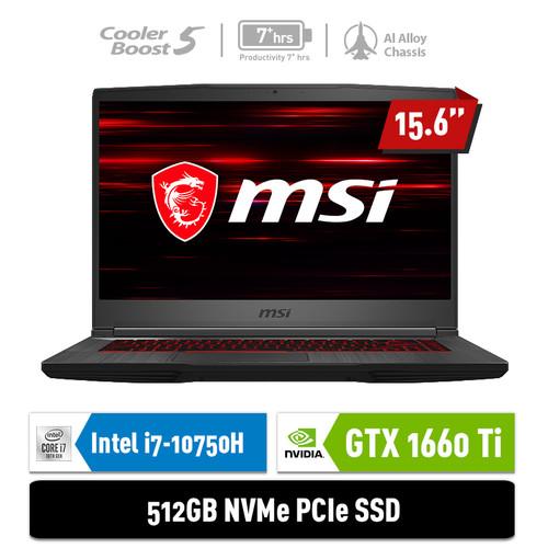 Foto Produk MSI GF65 Thin 10SDR [9S7-16W112-845] i7-10750H 8G 512GB GTX1660Ti 6GB dari MSI Official Store