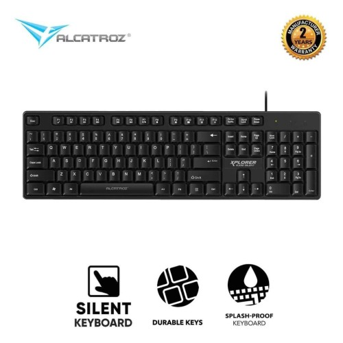 Foto Produk Alcatroz Xplorer K330 Silent HI-Definition USB Wired Keyboard dari Alcatroz Official Store