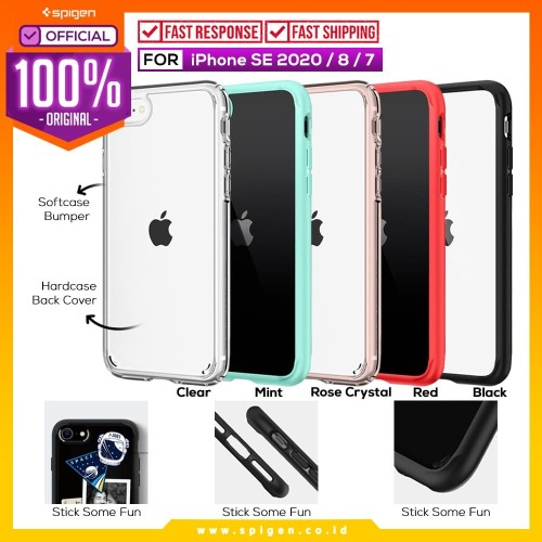 Foto Produk Case iPhone SE 2020 / 8 / 7 Spigen Ultra Hybrid 2 Anti Crack Casing - Crystal Clear dari Spigen Official