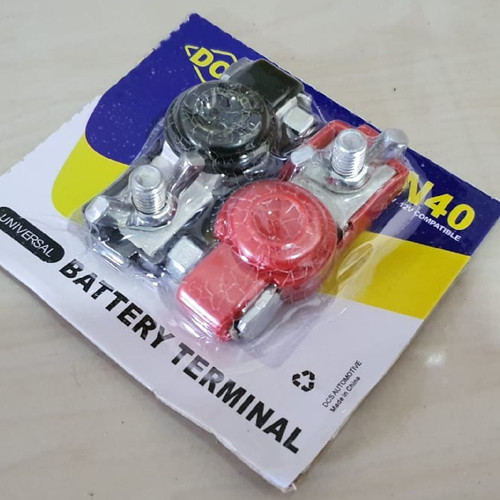 Foto Produk Terminal Accu Mobil dan Kepala Aki plus Tutup Karet Ukuran Kecil NS40 dari varellautoshop