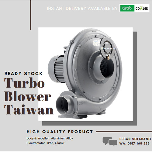 Foto Produk Turbo Centrifugal Blower 200 Watt 1 Phase TAIWAN dari lfindonesia