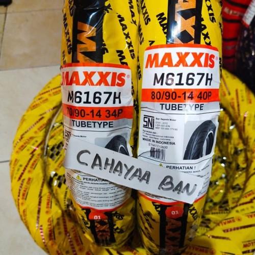 Foto Produk PAKET BAN MAXXIS MOTOR MATIC MIO DEPAN DAN BLAKANG TUBETYPE dari cahayaa ban