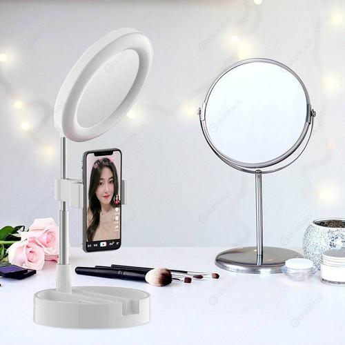Foto Produk Ring light G3 Live Tiktok Led Fill Light and Mirror Kaca Make up lipat - Putih dari Mix acc88