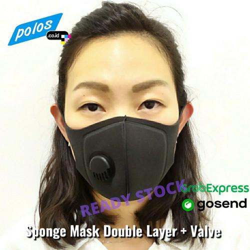 Foto Produk Masker Sponge Dengan Valve / Masker Sponge Double Layer + Valve dari polos.co.id