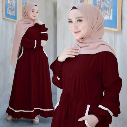Foto Produk Tokogo.id - Gamis Nirmala Muslim Dress - Maron dari Tokogo-id