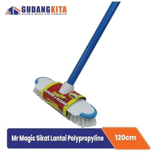 Foto Produk Mr Magic Sikat Lantai - Sikat Kamar Mandi Gagang Panjang - Scrub&Clean dari GUDANGKITA COM