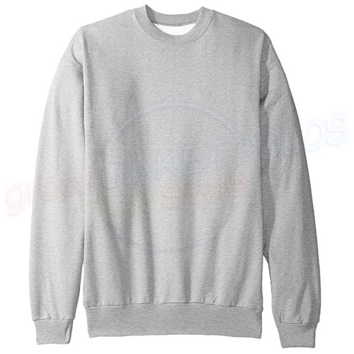 Foto Produk Sweater Basic Oblong Abu Abu Muda Abu Misty Light Grey - M dari Hoodie Center