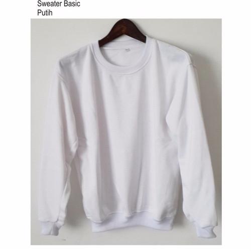 Foto Produk Sweater Basic Oblong Putih White - M dari Hoodie Center
