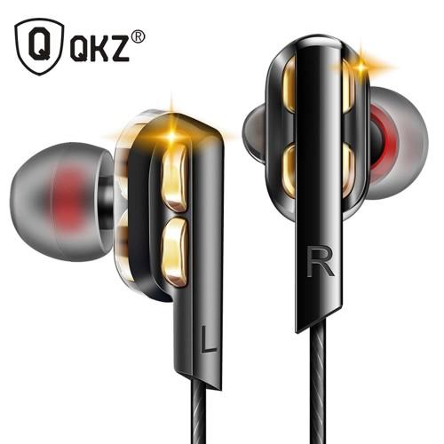 Foto Produk QKZ AK4 In-Ear Earphones Bass HIFI Headset with Microphone - Black dari Global Persada System