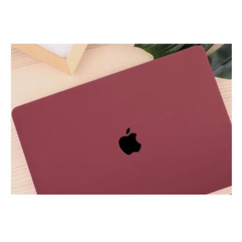 Foto Produk Case MacBook Cover NEW AIR 13 inch 2018-2020 Protector - Merah maroon dari Macbook Warehouse