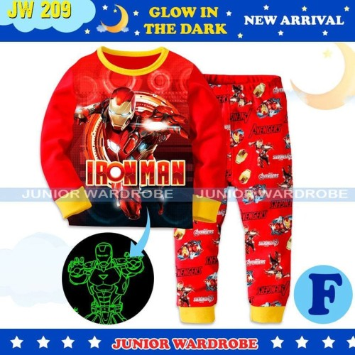 Foto Produk Piyama Ironman Pajamas Glow in the Dark JW 209 - 2-3 tahun dari Dominique Collection