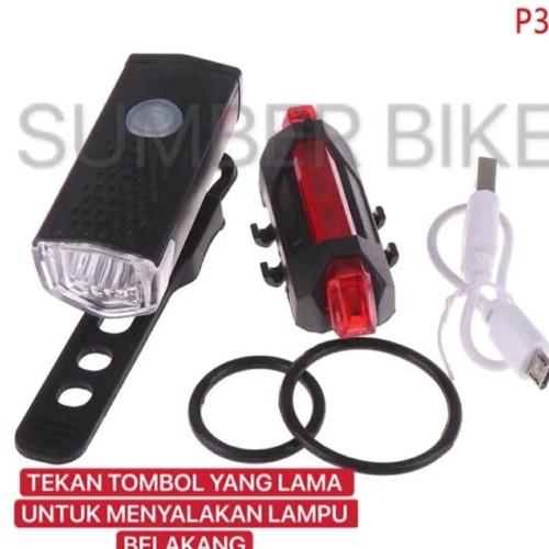 Foto Produk Paket lampu depan dan belakang sepeda - PAKET MERAH dari sumberbike