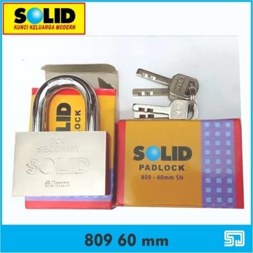 Foto Produk Solid 809 60 mm Padlock Top Security Gembok Kunci dari Sadar Jaya Mandiri