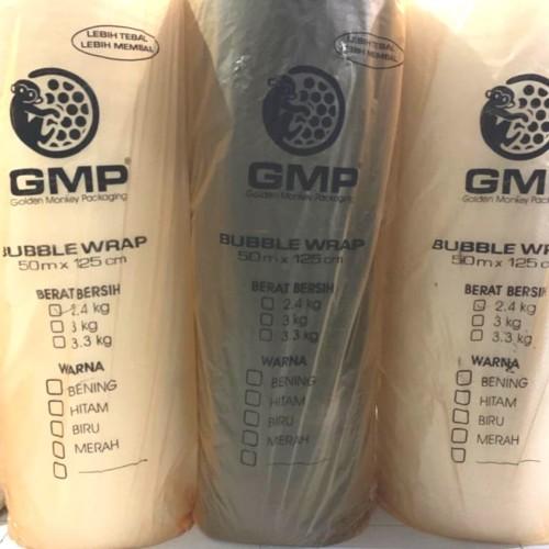Foto Produk Bubble Wrap Murah Ekonomis Merk GMP 125CM X 50M X 2,4KG - Hitam dari TOP LAKBAN