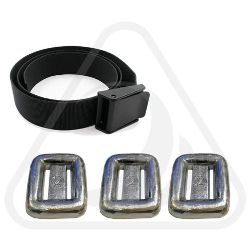 Foto Produk Diving Belt plastic nylon with 3 Kg Timah Weight / Paket Sabuk Selam dari Zeepro Bali