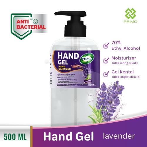 Foto Produk Hand Sanitizer PRIMO HAND GEL 500ml Lavender dari Primo Official Store