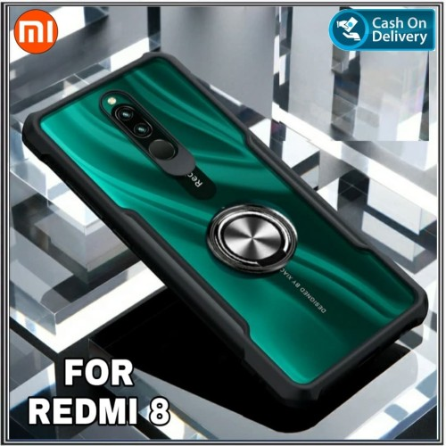 Foto Produk Case Xiaomi Redmi 8 Soft Hard Fusion Tpu HD Transparan Ring dari Zona Case Import