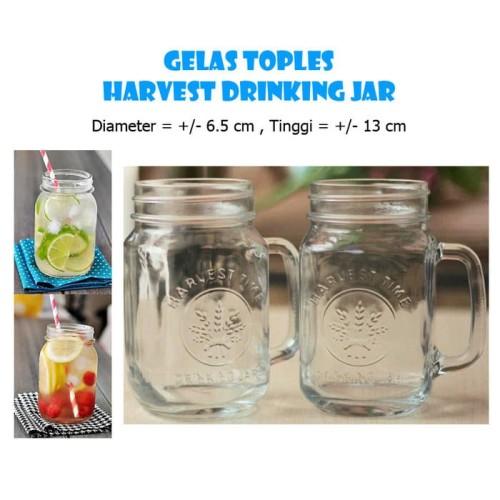 Foto Produk Harvest Jar/Gelas Toples Mug/Gelas Jar /Drink Jar dari Gold Tj Online