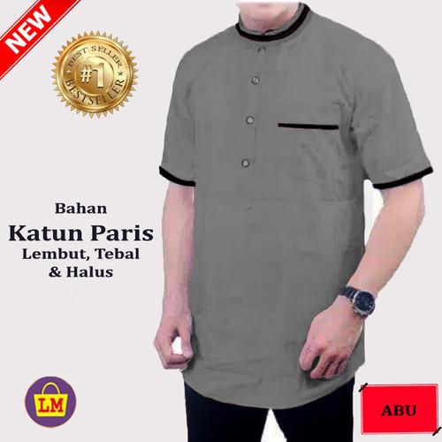 Foto Produk LM 10242-10249 KOKO AGYM Lengan Pendek Baju Muslim M L XL XXL XXXL - Abu-abu, M dari Lobby Mode