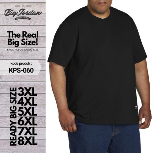 Foto Produk kaos polos pria big size 7XL 6XL 5XL 4XL baju polos wanita jumbo XXXXL - Hitam, 5XL dari RAZENA STORE