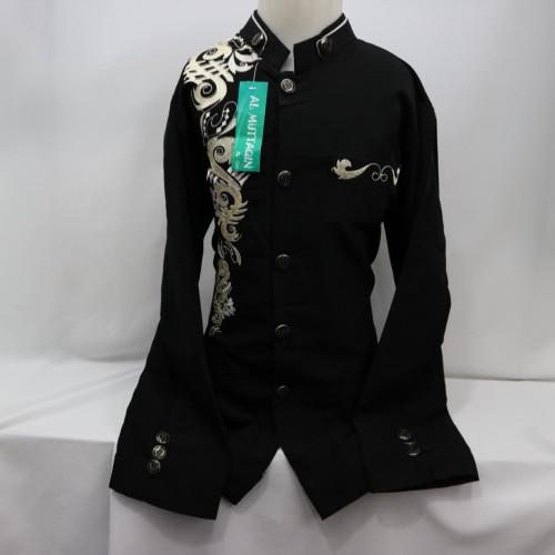 Foto Produk Baju Koko Jasko Jas Koko Muslim Anak Laki - laki Lengan Panjang Baru - Hitam, 13-14 tahun dari produsen baju koko