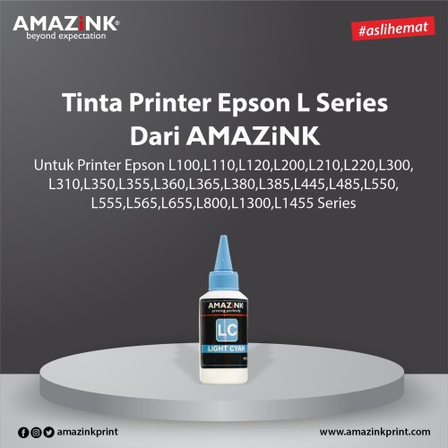 Foto Produk Tinta AMAZiNK for Epson L Series 100 ml Light Cyan dari AMAZiNK
