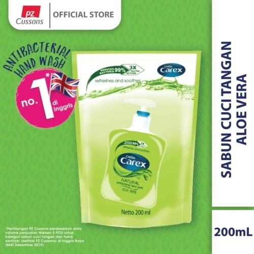 Foto Produk Carex Hand Wash Aloe Vera DOY 200 ml dari Cussons Official Store