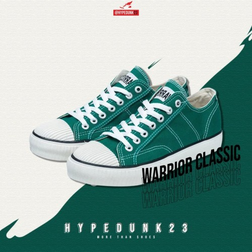 Foto Produk Sepatu Warrior Classic Low Green (Hijau) - 37 dari hypedunk23