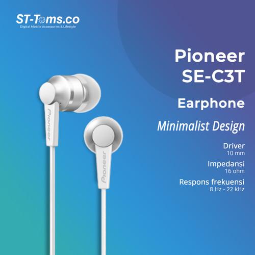 Foto Produk Pioneer SE-C3T Earphone with Mic - Putih dari ST-Toms.co