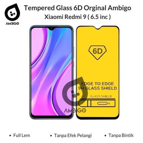 Foto Produk Tempered Glass 6D 9D Xiaomi Redmi 9 Full Cover Ambigo - Hitam dari Jagonya Case