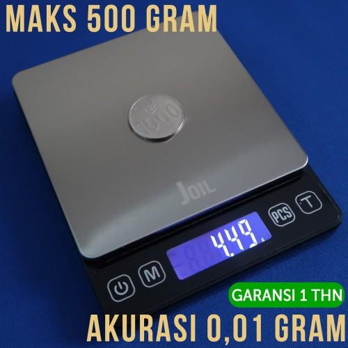Foto Produk Timbangan Digital Dapur Kue Super Akurasi 0.01 Gram Max 500 g dari Joil