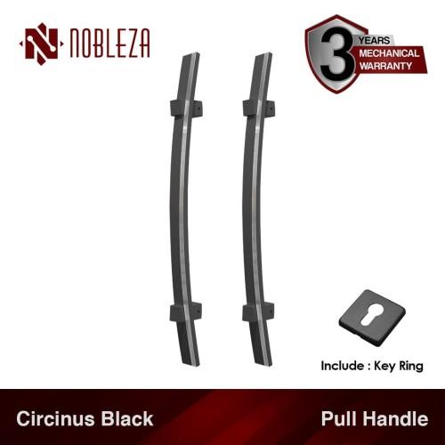 Foto Produk NOBLEZA Circinus Hitam 60 cm Pull Handle Gagang Tarikan Pintu Rumah dari Nobleza Hardware