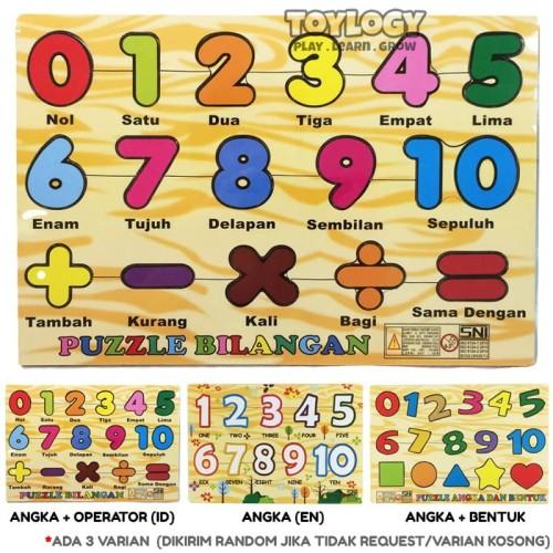 Foto Produk Mainan Edukasi Edukatif Anak Kayu Wooden Puzzle Angka 123 dari Toylogy