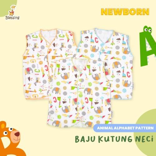 Foto Produk Baju Bayi Kutung Neci-Blessing Babywears-Alphabet(Size:NB-Set 3 pcs) dari BLESSING Babywear