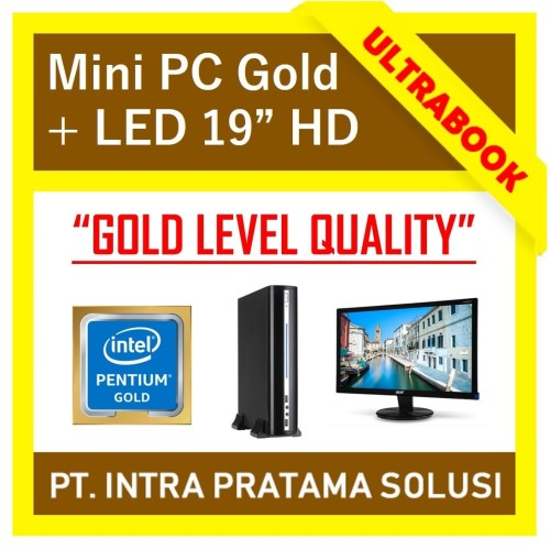 "Foto Produk MINI PC INTEL GOLD + LED 19"" (RAM 4GB) - High Performance for Office - SSD 120GB dari PT. Intra Pratama Solusi"