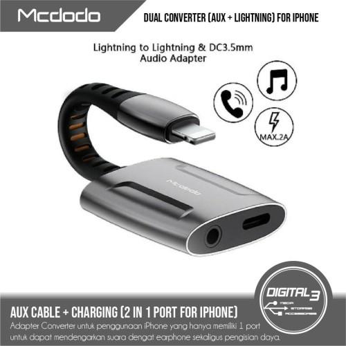 Foto Produk MCDODO CA-6340 Adapter Splitter Iphone 2 in 1 Lightning & 3.5MM Aux dari digital 3