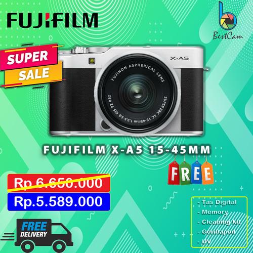 Foto Produk Fujifilm X-A5 / XA5 Kit 15-45mm OIS II - Free Accessories dari BestCam