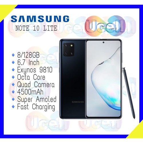 Foto Produk Samsung Galaxy Note 10 Lite - 8GB/128GB - Aura Glow - Garansi Resmi dari ucell cempaka