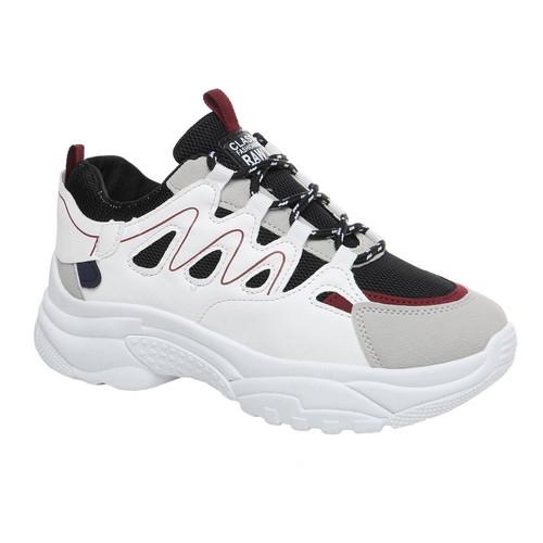Foto Produk PVN Sepatu Sneakers Wanita Sport Shoes 586 - white black, 36 dari PVN Official Store