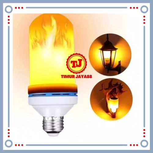 Foto Produk Lampu Led Api / Bohlam Lampu Led E27 Flame Lampu Obor Taman 3 in 1 dari Timur Jaya88