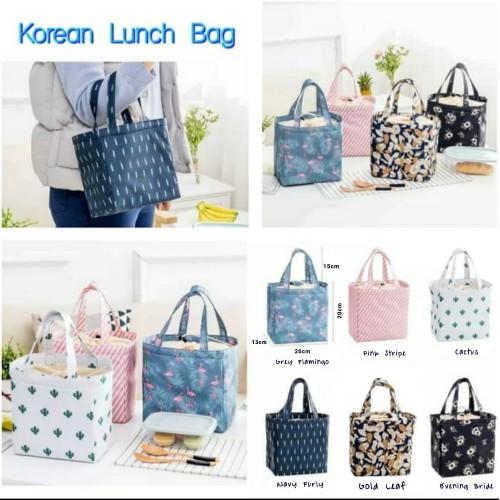 Foto Produk New Lunch Bag Cooler Bag Motif -Tas Bekal Makanan Panas Dingin dari Travelycious