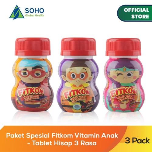 Foto Produk Paket Spesial Fitkom Vitamin Anak - Tablet Hisap 3 Rasa dari Soho Global