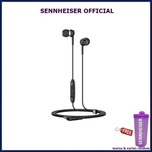 Foto Produk Sennheiser CX 80s in Ear Earphone with Mic CX80S CX 80 S CX80 S - Hitam dari Official Brands
