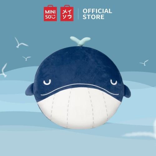 Foto Produk MINISO Seri Lautan Ikan Paus Rata Plush Toy , Biru Tua dari Miniso Indonesia