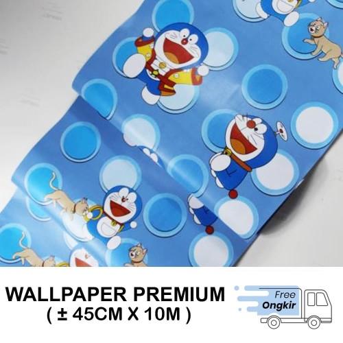 Foto Produk Wallpaper Stiker Dinding 45cm X 10M - POLKADOT DORAEMON dari Gudang wallpapers JKT
